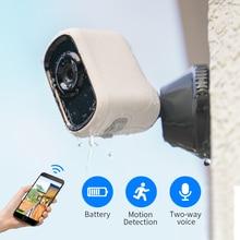 SDETER cámara IP inalámbrica con batería recargable 1080P, Wifi, impermeable para interiores y exteriores, cámara de seguridad CCTV, vista panorámica IP65 P2P