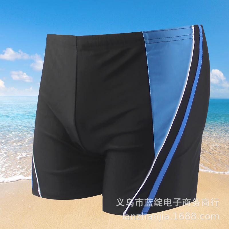 New Style Teenager Students Industry Large Size Fashion Swimming Trunks MEN'S Swimming Trunks Quick-Dry Beach Hot Springs Swimmi