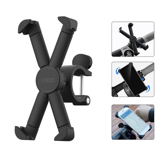 Segway ninebot Scooter Phone Bracket 360 Degree Rotatable Bicycle Motorcycle Holder For 4.7inch 6.5inch Mobile Phone