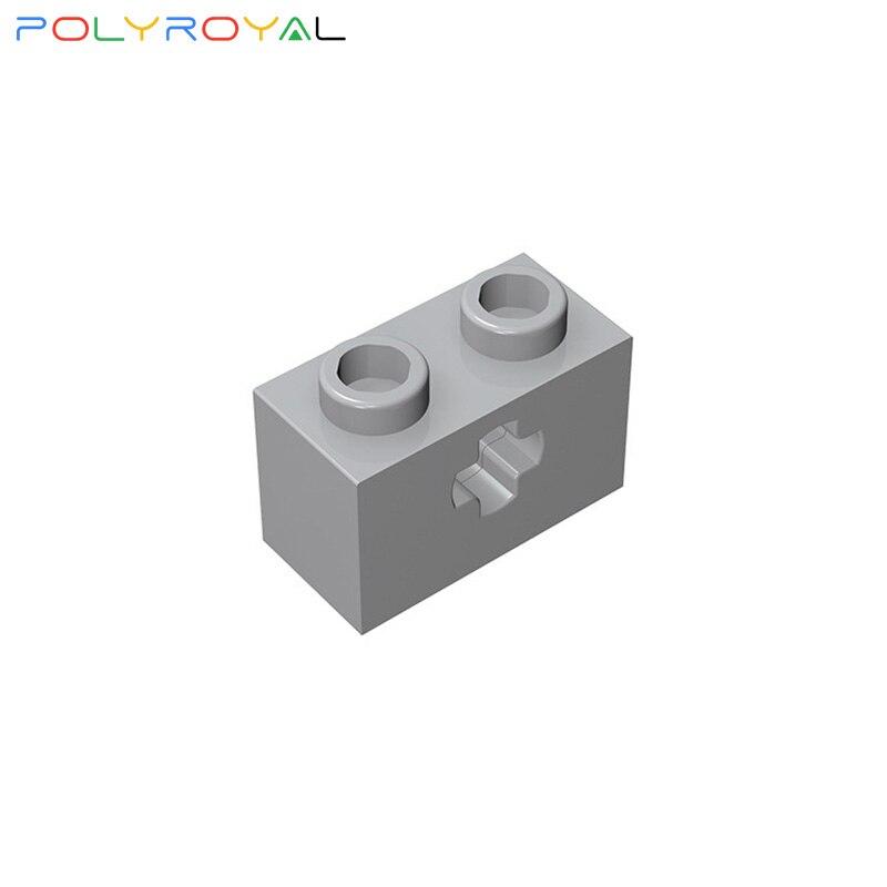 Строительные блоки technalal 1x2, кирпичи с отверстием для вала, 10 шт., совместимые сборы, детали для частиц, игрушка Moc, подарок 32064
