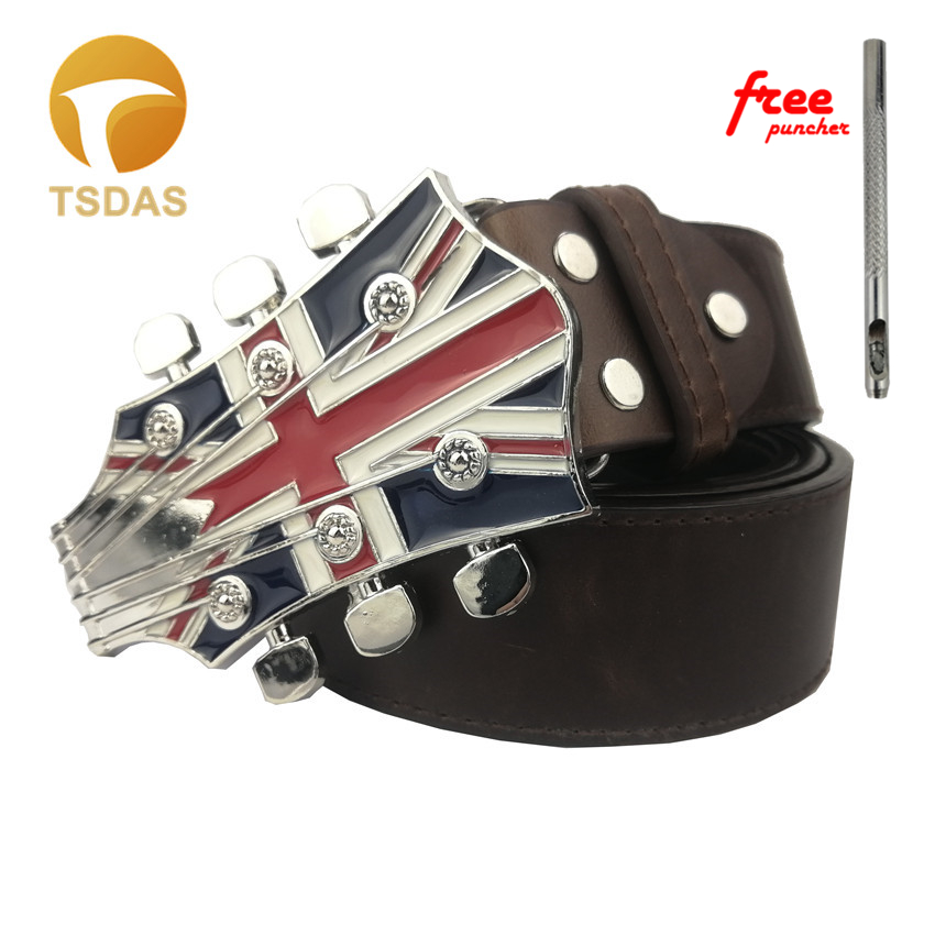 Guitar Belt Buckle s with Free Leather Belt
