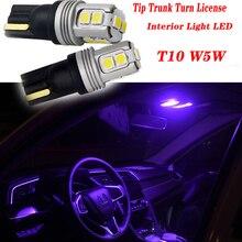 цена на 2pcs Highlight Car Trunk Turn T10 LED Light For Skoda Octavia A5 A7 Kodiaq Superb 2 Rapid Fabia 1 Porsche 911 Cayenne Macan