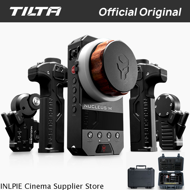 TILTA WLC T03 Nucleus M Wireless Follow Focus Lens Control System Nucleus M for 3 Axis Gimbal for Arri RED Tilta Max DJI RONIN S