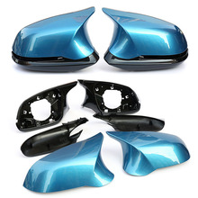 For BMW 1 2 3 4 series F20 F21 F22 F23 F30 F31 F32 F33 F34 F35 E84 Replacement Carbon Fiber Mirror Assembly Covers Caps Shell цена
