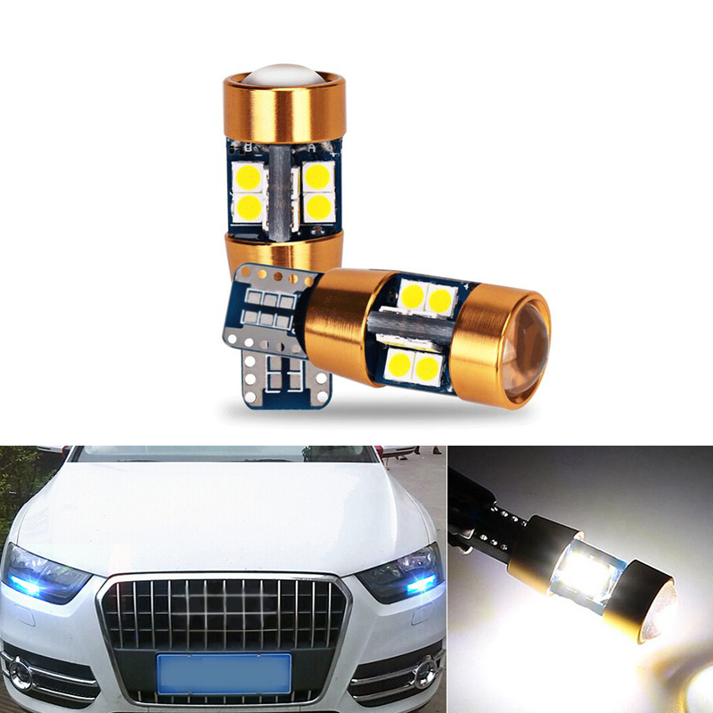 2x Canbus <font><b>LED</b></font> T10 W5W Clearance Parking Light Wedge Light For <font><b>AUDI</b></font> A2 A3 8L 8P <font><b>A4</b></font> <font><b>B5</b></font> B6 A6 4B 4F A8 D2 TT C5 C6 image