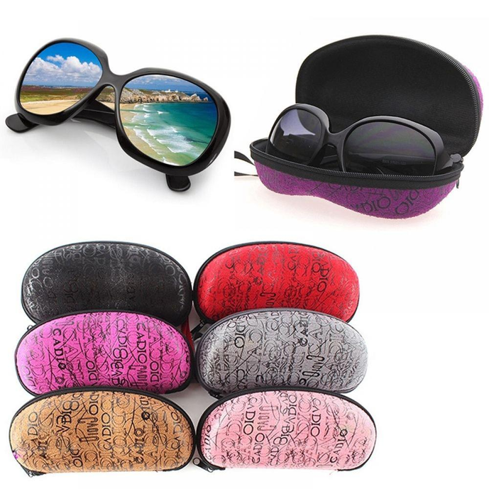 1Pcs Fashion Zipper EVA Peanut Pattern Sunglasses Hard Case Women Men Portable Glasses Protector Box Eyewear Accessories