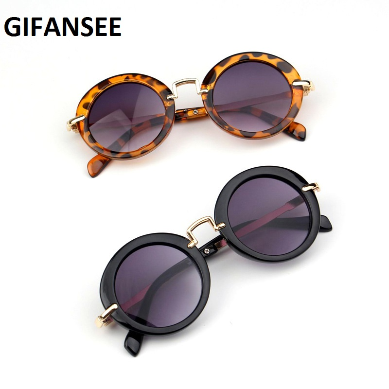 GIFANSEE Round Metal Frame Sunglasses Children Baby Boys Girls UV400 Kids Toddler Glasses Eyewear Shades Goggles