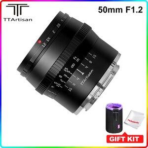 Image 1 - Ttartisan 50Mm F1.2 Grote Diafragma APS C Lens Voor Sony E Mount Fujifilm M4/3 Camera A6600 A6500 a7 X T4 X T3 X T30 Handmatige Focus