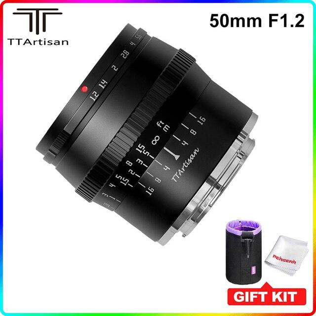 Ttartisan 50Mm F1.2 Grote Diafragma APS C Lens Voor Sony E Mount Fujifilm M4/3 Camera A6600 A6500 a7 X T4 X T3 X T30 Handmatige Focus