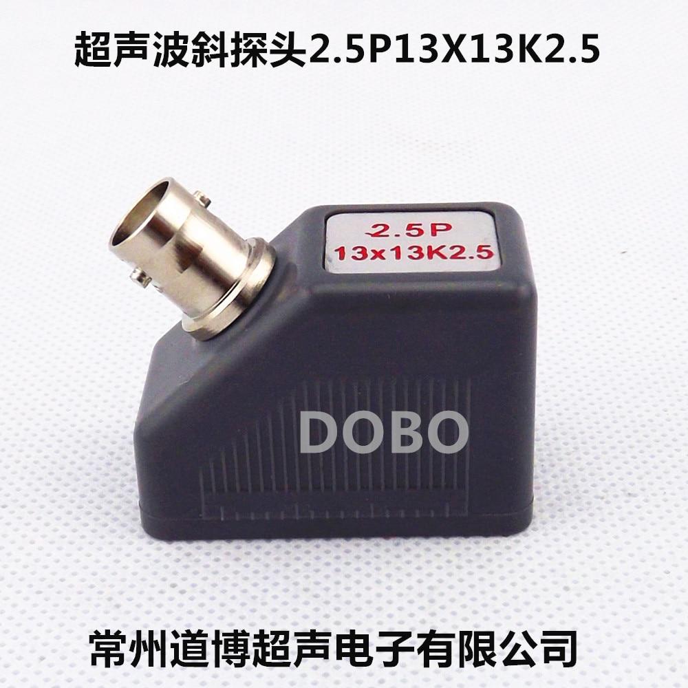 Ultrasonic Oblique Probe 2.5P13X13K2.5 Metal Nondestructive Testing Weld UT Flaw Detector Probe Transducer