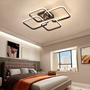 Image 4 - Square Circel Rings Chandelier For Living Room Bedroom Home AC85 265V Modern Led Ceiling Chandelier Lamp Fixtures Free Shipping