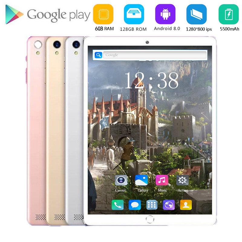 2020 New 10.1 Inch Tablet PC Octa Core 6GB RAM 128GB ROM 3G 4G LTE Bluetooth WIFI Dual Camera Multi Touch 1280*800 IPS Tablet