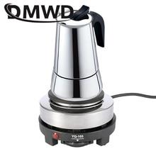 DMWD 110V/220V מיני חשמלי מוקה תנור תנור סיר משולב קפה דוד מוקה פלטת חימום מים קפה חלב מבער