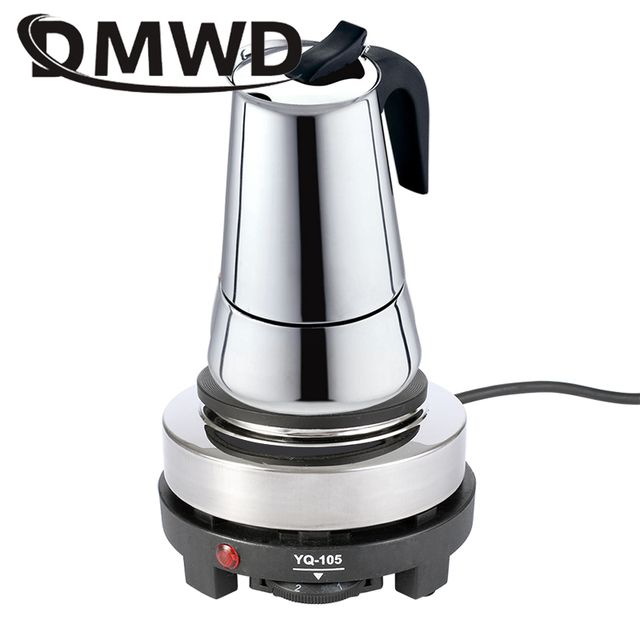DMWD 110V/220V 미니 전기 모카 스토브 오븐 쿠커 다기능 커피 히터 모카 가열 핫 플레이트 워터 카페 밀크 버너