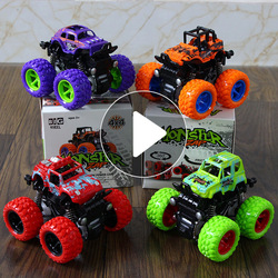 Children's toy inertial stunt shock absorption off-road vehicle boy toy car forward and backward unimpeded
