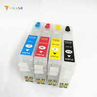 Einkshop 4pcs  T2991   T2994 Refillable Ink Cartridge For Epson XP 235 XP 332 XP 335 XP 432 XP 435 XP235 With one time Chips|ink cartridge for epson|cartridge epson xp|cartridge ink -
