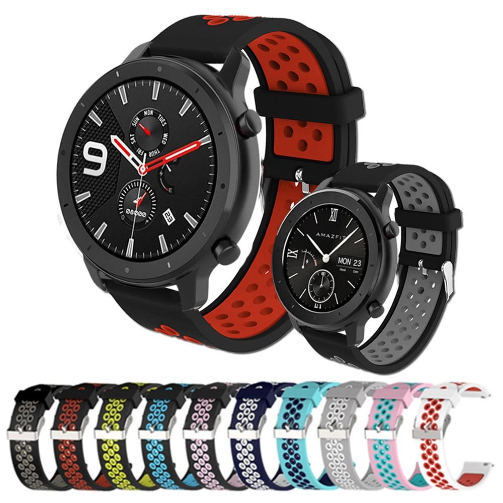 22/20mm Wrist Strap For Xiaomi Huami Amazfit GTR 47mm 42mm Smart Watch Band Bracelet For Amazfit Stratos / Stratos 2 / Stratos 3