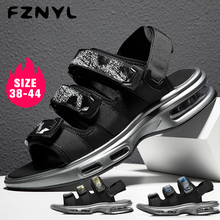 FZNYL Men's Fashion Sandals Air Cushion Shoes Super Light Non-slip Wear-resisting Hiking Sneakers Beach Shoes Slippers недорого