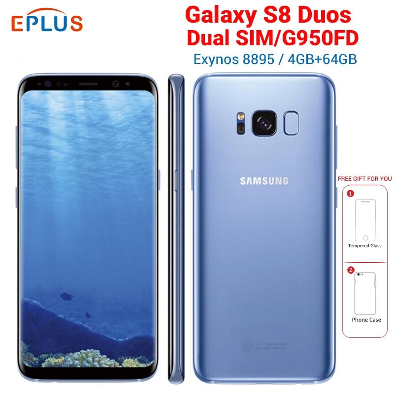 New EU Version 4GB 64GB Samsung Galaxy S8 Duos G950FD Dual SIM Mobile Phone Exynos 8895 5.8