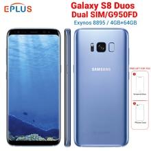 New EU Version 4GB 64GB Samsung Galaxy S8 Duos G950FD Dual SIM Mobile