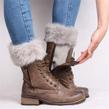 Женские теплые носки повседневные гетры для ног вязаные крючком