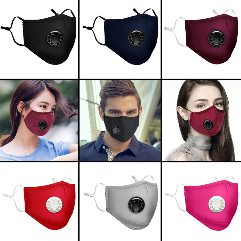 Respiratory Dust Mask Upgraded Version Men & Women Anti-fog Haze Dust Pm2.5 Pollen 3D Cropped Breathable Valve Mouth Mask
