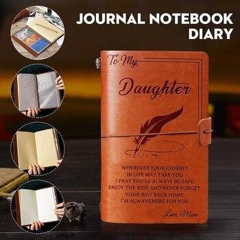 Agenda de cuero grabado 20x12cm para mi hija cara reta amor Mon cuaderno grabado agenda