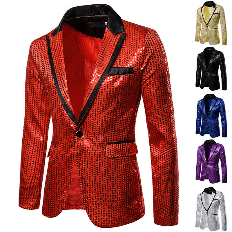 Stylish Men's Casual Slim Fit Formal One Button Suit Blazer Coat Jacket Tops Party Fashion Outwear