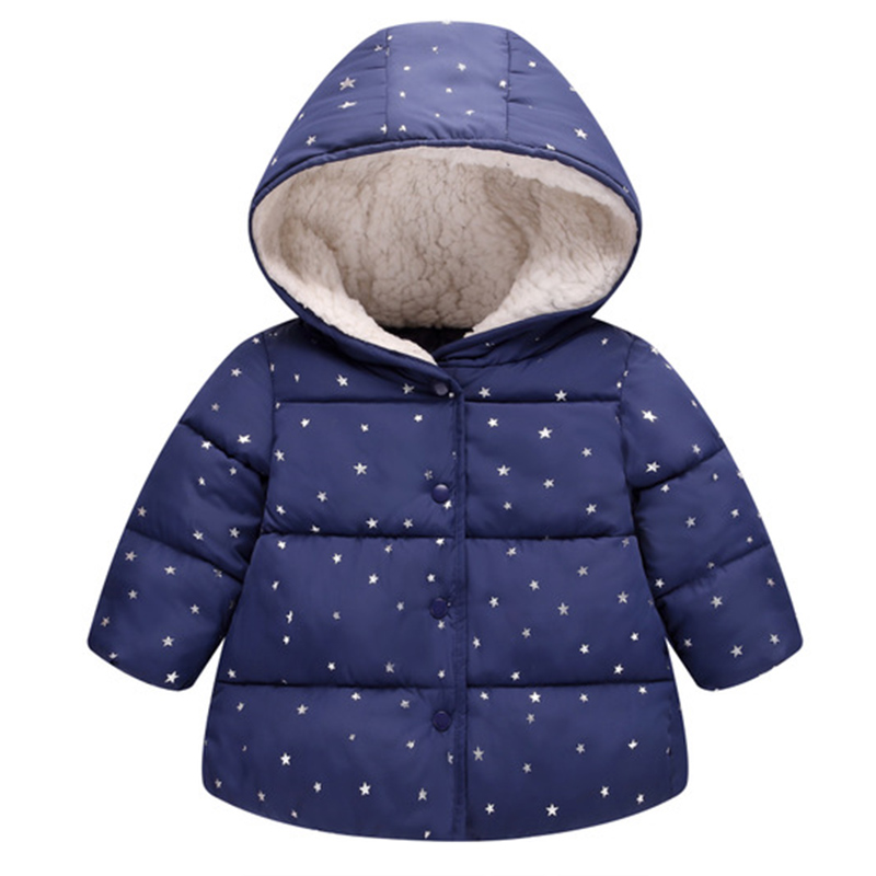Girl Jackets Coats Clothing Hooded Toddler Boys Fashion-Style Kids Winter Polka for Children