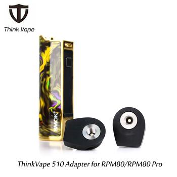 W magazynie gorący g-smak TOVAPO 510 Adapter do VOOPOO VINCI VINCI X RDA RTA RDTA elektroniczne papierosy wątek tanie i dobre opinie Thinkvape Thinkvape 510 Adapter Z tworzywa sztucznego for RPM80 RPM80 Pro Black 1pcs pack