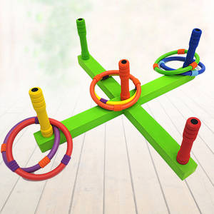 Toys Garden Outdoor Children Hoop Ring-Toss Plastic-Ring Sports for Quoits Game-Pool