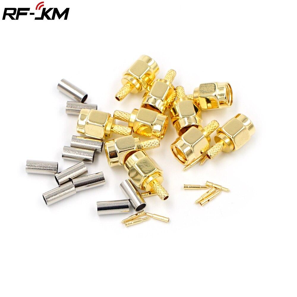 10 шт. высококачественные обжимные штекеры SMA для кабеля RG174 RG316 RG178 RG179 LMR100 RF