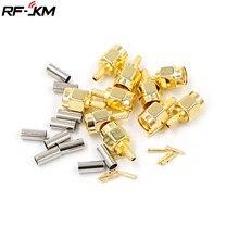 10 peças de Alta-qualidade SMA Plugue Macho cravar para RG174 RG316 RG178 RG179 LMR100 Conector RF Cabo