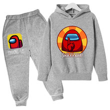 Spring 2021, Boys Cotton Sweatshirt, Boys Hooded And Pants Two-piece Clothing Suit 4-14T