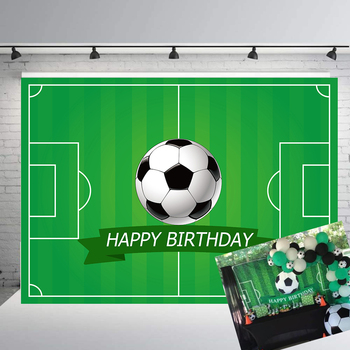 Football Field Birthday Party Decor Photography Backdrop Soccer Sport Child Kid Boy Portrait Photo Studio Props