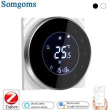 Zigbee inteligente termostato controlador de temperatura hub água necessária/piso elétrico aquecimento água/caldeira a gás com alexa casa do google