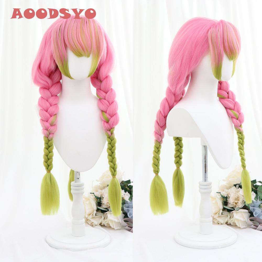 A00dsyo Mitsuri Wig Kimetsu No Yaiba Demon Slayer Cosplay Pink Synthetic Heat Resistant Hair Kanroji Mitsuri Cosplay Anime Costumes Aliexpress Nơi đây chúng tớ sìn chị nhà kanroji mitsuri nhaaaa. aliexpress