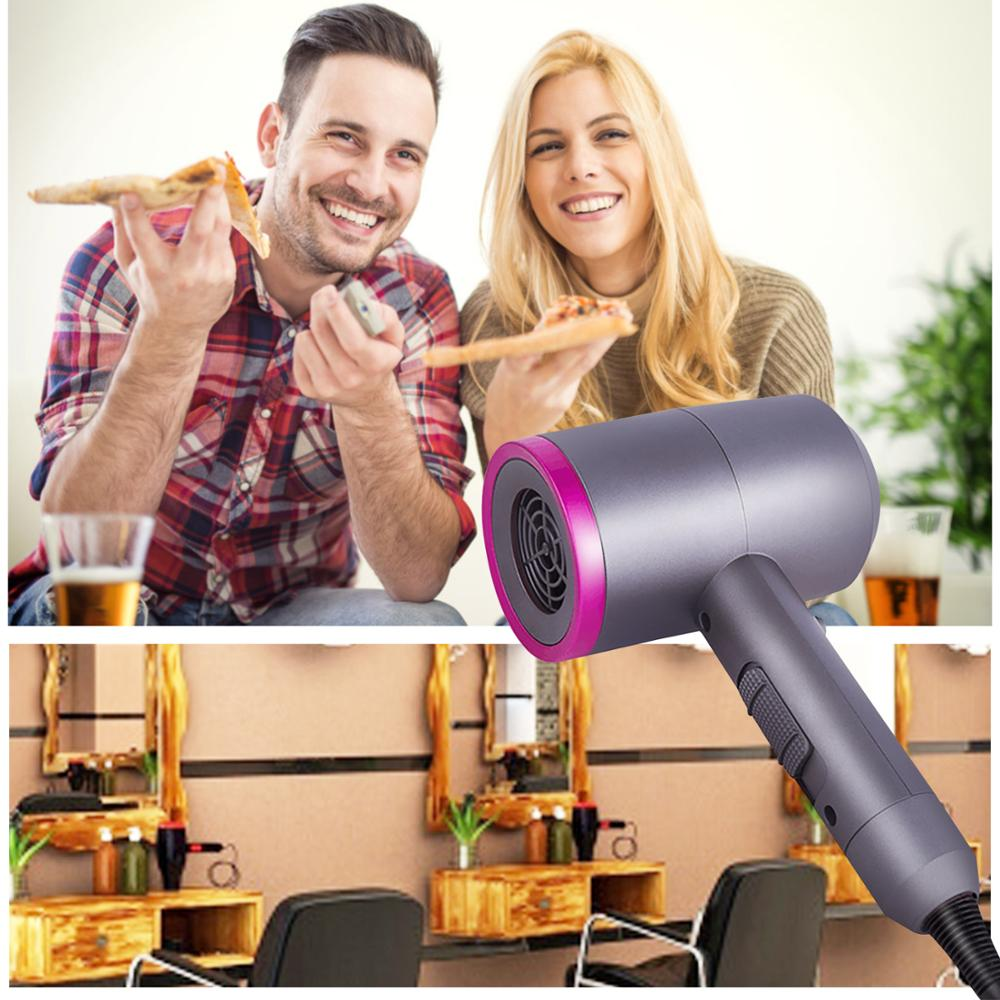 Hair Dryer Nano Ionic Blow Dryer Professional Salon Hair Blow Dryer Lightweight Fast Dry Low Noise With Concentrator Diffuser in Curling Irons from Home Appliances