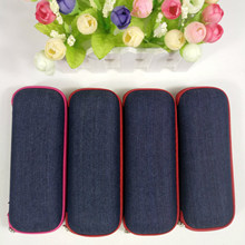 Box Case Fabric Denim Protector Hard-Shell Reading New Zipper 1pcs