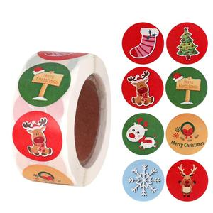 500pcs Candy Bag Sticker Merry Christmas Decor for Home Christmas Tree Elk Ornaments Christmas Gifts Decor Navidad Xmas New Year