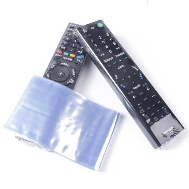 10pcs/lot Transparent Shrink Film for TV Air Conditioner Remote Control Protective Case Sheath Remote Dustproof Cover Shell Bag 2