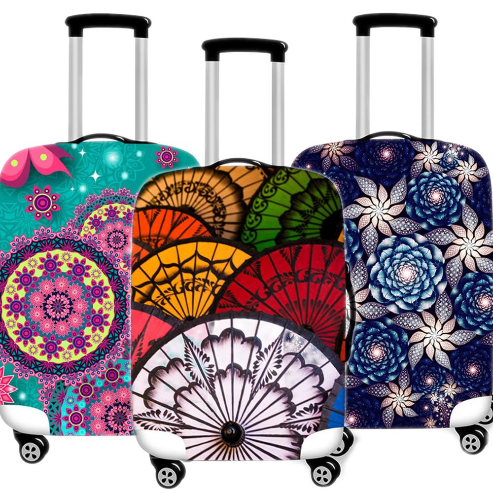 Creative Printing Luggage Case Protective Cover Elastic Suitcase Case Apply Waterproof Thicken 18-32 Inch Travel Accessories