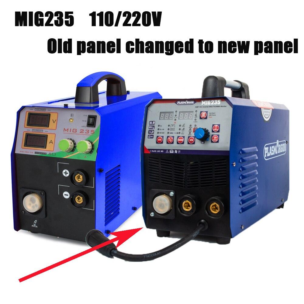 Spawarka TIG/MMA/MIG-spawarka wielofunkcyjna MIG235 3w1 Combo 110/220V