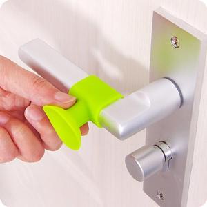 1pcs Home Door Handle Knob Silicone Doorknob Self-adhesive Anti-collision Protector Pad Rubber Bumper Plugs Door Knob Covers