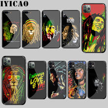 Bob Marley กระจกนิรภัยสำหรับ iphone 5 5S SE 6 6S 7 8 Plus 11 Pro X XR XS max Pro(China)