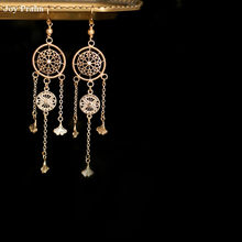 Vintage dream catcher earrings / Fringed long women ear jewelry / wholesale dropshipping(China)