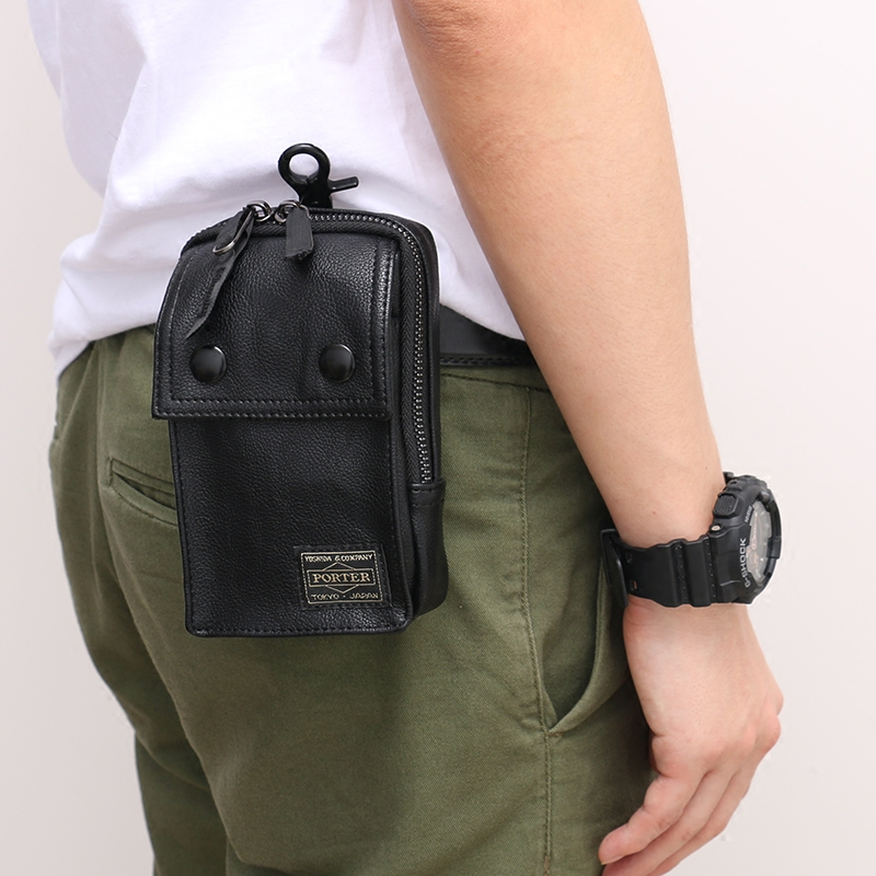 Vintage Waist Pack Men Round Belt Bag Men's Small Pockets Men's Bag Wear Belt Small Bag Mini 5.5 Mobile Phone Bag Waterproof