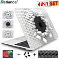 2020 kristall Fall Für Macbook Air 13 3 11 Pro Retina 12 13 15 Touch Bar Laptop Hard Shell Tastatur Abdeckung haut Screen Protector-in Laptop-Taschen & Koffer aus Computer und Büro bei