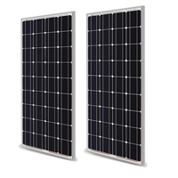 Солнечная панель 100 Вт 200 Вт 18 в 12 В 24 в легкий вес стеклянная закаленная солнечная панель моно кристаллические элементы солнечное зарядное у...