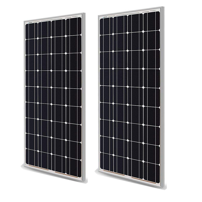 Solar Panel 100w 200w 18V 12V 24V Light weight Glass Temper Solar Panel Mono crystalline cells solar battery charger image